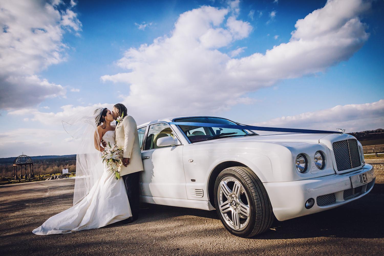 wedding car bride groom goosedale nottingham