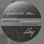 Wedding Community Blog grey logo
