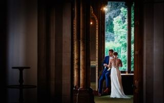 Couple taking time at Kelham Hall
