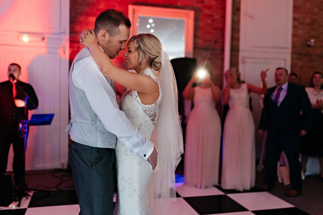 bride and grooms first dance at norwood