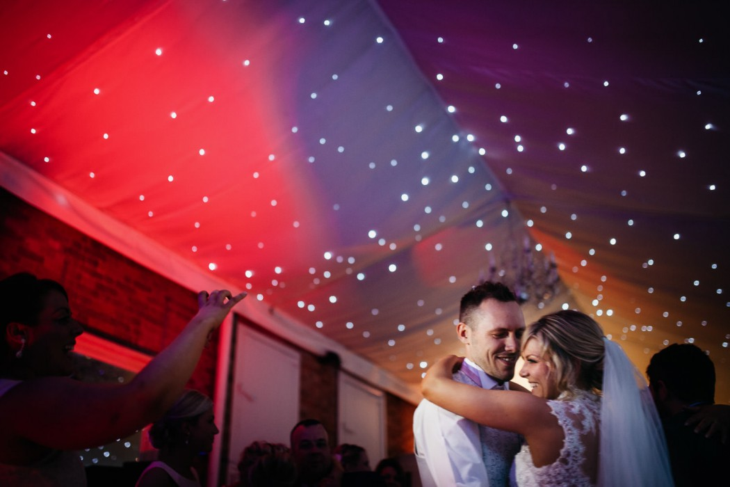 first dance at norwood park under the twinkly lights