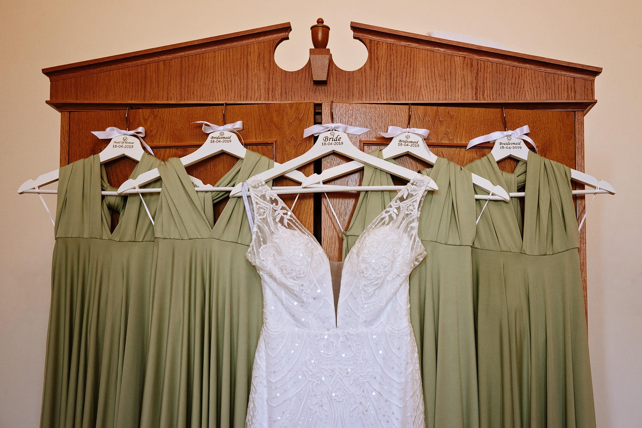 all the bridal dresses together