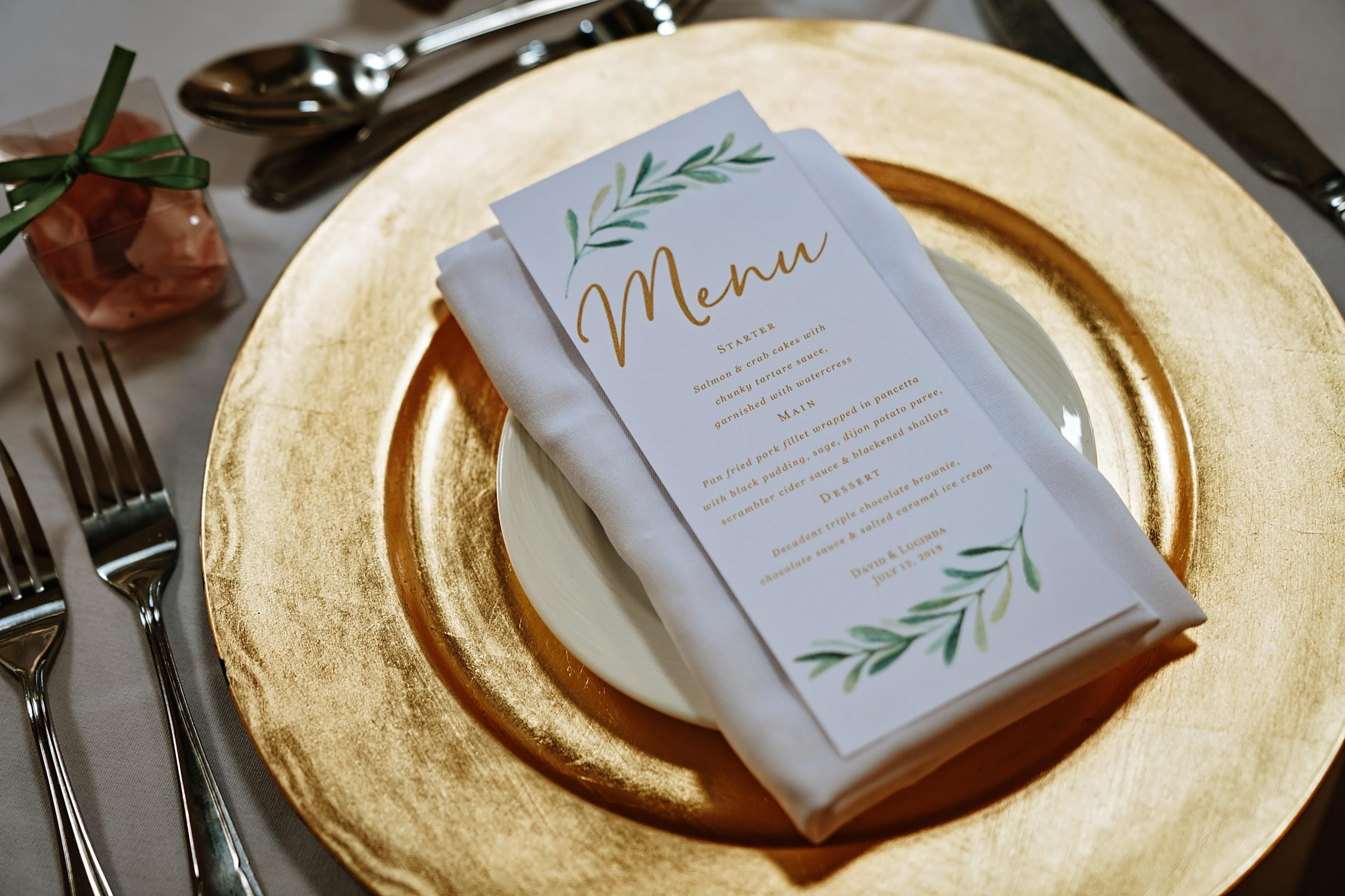 place setting wedding