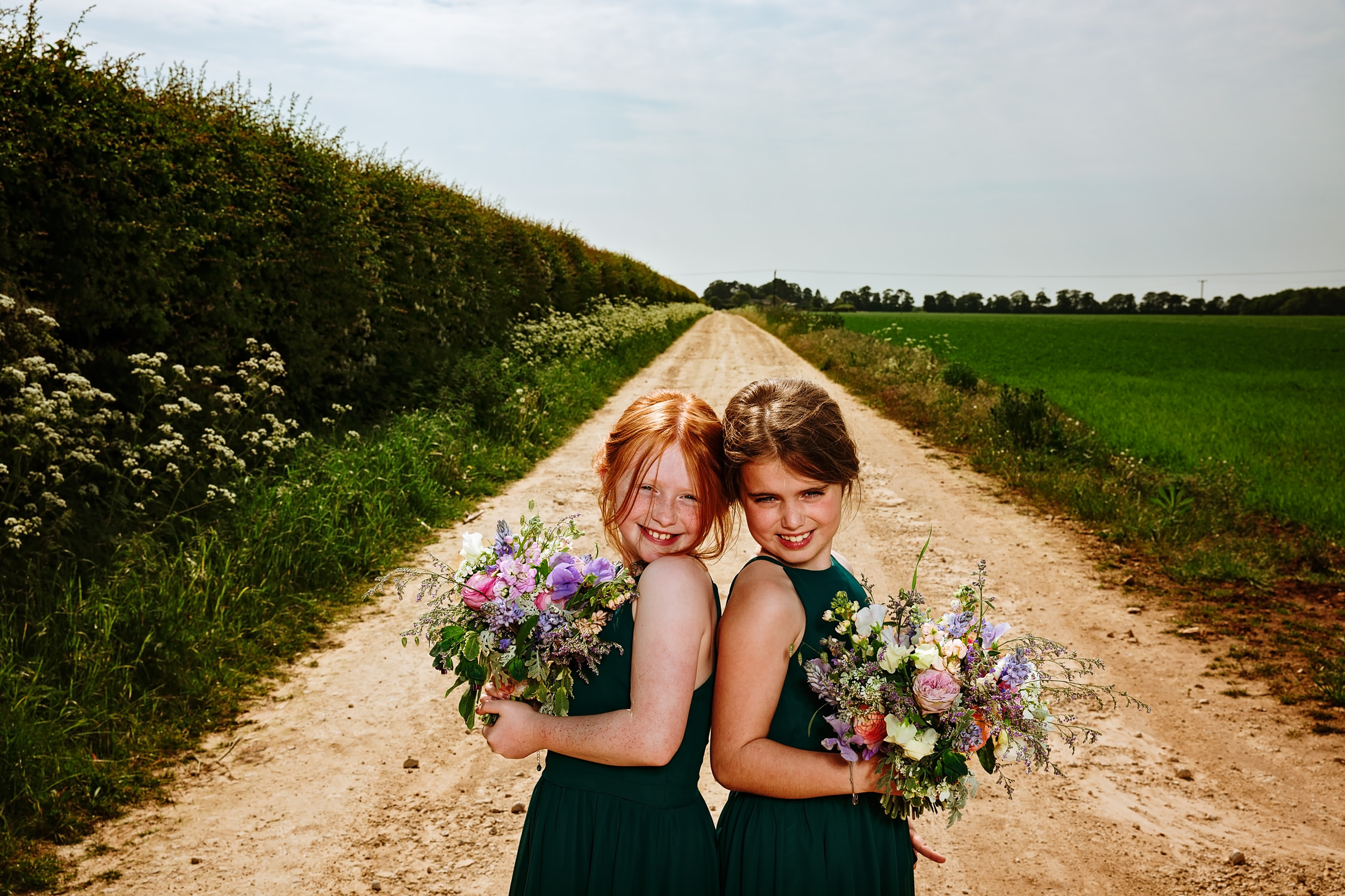 Flower girls in the lane portrait photography