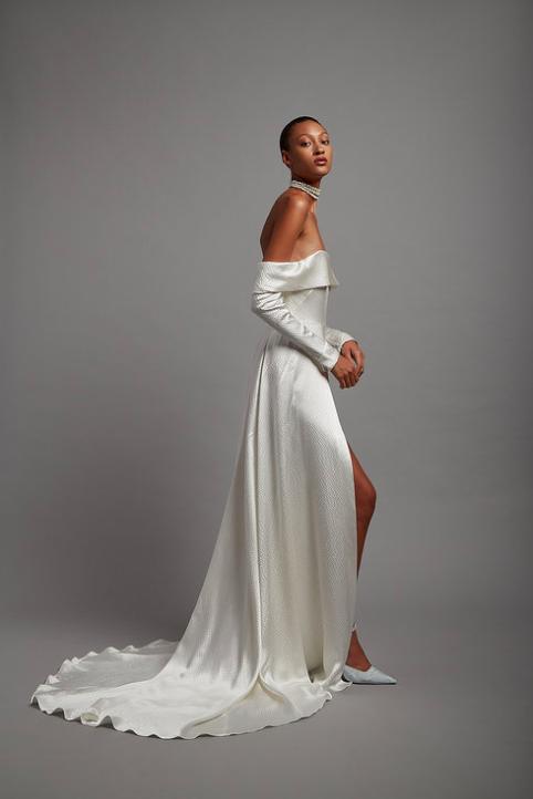 Hammered-Satin Nottingham Wedding Dress Shop